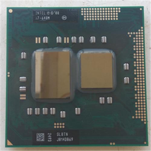 intel Laptop cpu i7 640M CPU intel PGA 988 pin Socket G1, Core i7 640M 2.8GHz 4M Dual Core Four threads 640 Notebook processors