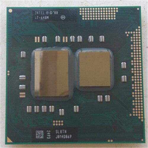 Intel Portable cpu i7 640 M CPU intel PGA 988 pin Socket G1, Core i7 640 M 2.8 GHz 4 M Dual Core Quatre fils 640 processeurs Portables