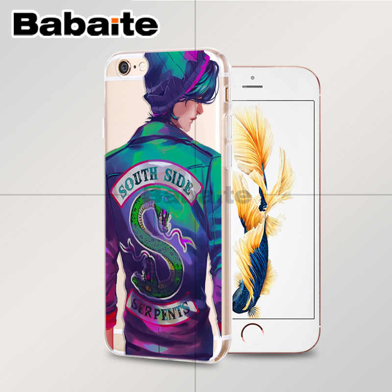 Babaite Riverdale South Side Serpents TPU Soft Rubber Phone Case Cover for Apple iPhone 8 7 6 6S Plus X XS MAX 5 5S SE XR