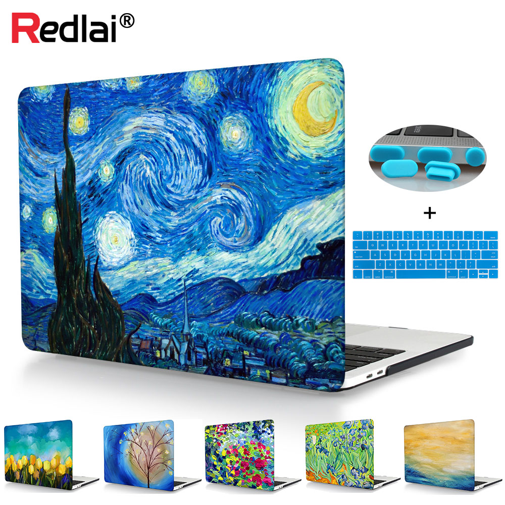 Starry Night Laptop tok Macbook Pro 13 15 tokhoz A1706 A1708 A1707 Érintősáv Retina fedél Mac Air A1932 Pro Retina 13 15