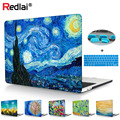 Starry Night Laptop Case For Macbook Pro 13 15 Case A1706 A1708 A1707 Touch bar Retina Cover For Mac Air A1932 Pro Retina 13 15