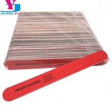 100 Pcs חד פעמית 100/180 באיכות גבוהה ג ל נייל אביזרי מקצועי ציפורניים כלים עץ נייר זכוכית נייל קבצי סט