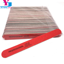 Lixa de unha descartável 100, acessórios para unhas em gel de alta qualidade, conjunto de lixas de unha profissional, 100/180 peças
