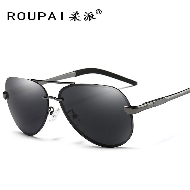 Roupai. Солнцезащитные очки для женщин пилот поляризованные Солнцезащитные очки для женщин дизайнер вождения Рыбалка Антисейсмические Для му... ...