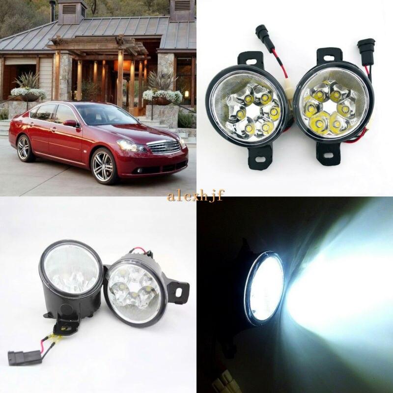 July King 18W 6LEDs H11 LED Fog Lamp Assembly Case for Infiniti M35 M45 2006~2010,  6500K 1260LM LED Daytime Running Lights