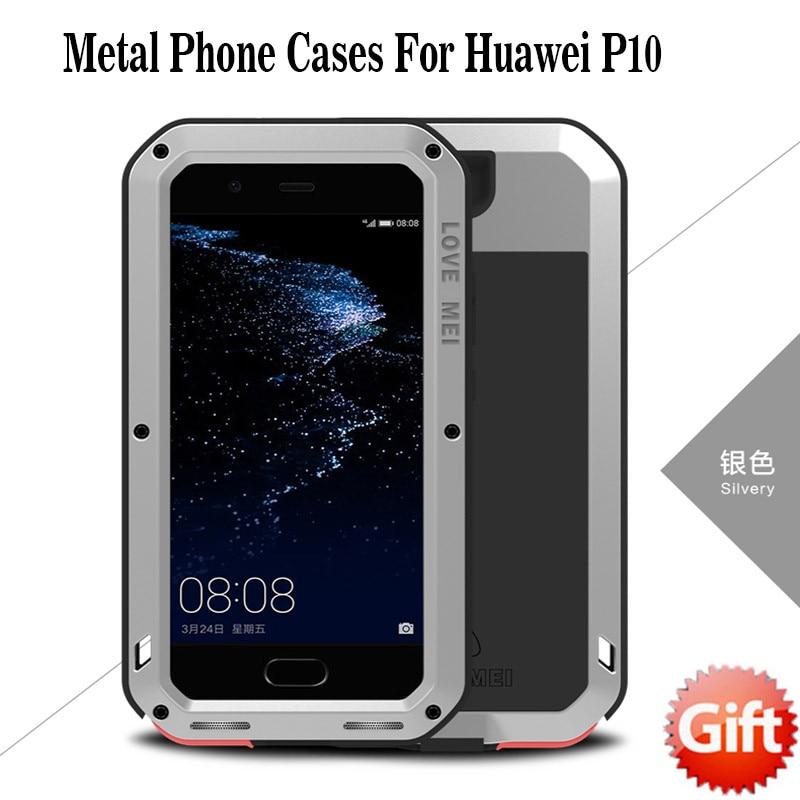 imágenes para Caja Del Teléfono AMOR MEI Vida P10 P10 Impermeable A Prueba de Golpes Cubierta de la Caja de Aluminio del Metal para Huawei Envío Libre