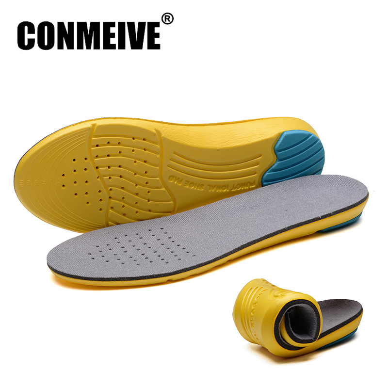 CONMEIVE Brand Breathable Unisex Insoles Orthotic Arch Support Shoes Pad 1Pair Free Size Gel Insert Cushioning for Men Women