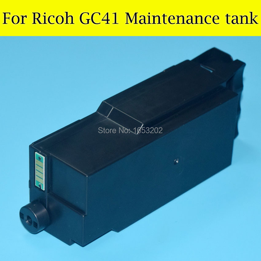 1 PC High Quality Maintenance Cartridge Tank For Ricoh GC 41 Newest Waste Ink Box For Ricoh GC41 3100 2100 3110DN 3110SFN free shipping high quality ink cartridge compatible for hp835 836 ip1188 large capacity