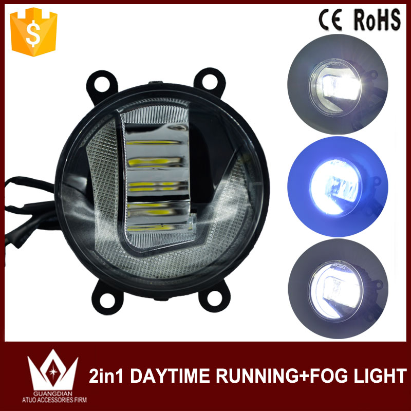 Guang Dian car led light Daytime running light with Fog light DRL + Fog lamp 22w 12v 3200LM 5000K - 6000K Cob chip 90mm wljh 2x car led 7 5w 12v 24v cob chip 881 h27 led fog light daytime running lamp drl fog light bulb lamp for kia sorento hyundai