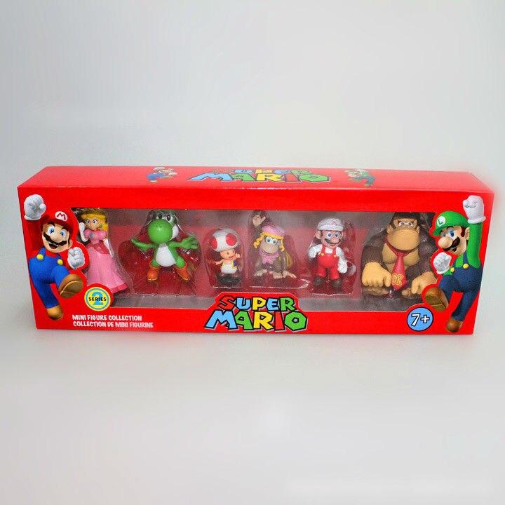 30 Sets/lot Super Mario Bros Action Figure Nintendo 2