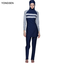 YONGSEN Full Coverage Muslim Swimwear Islamic Women Modest Hijab Plus Size Muslim Swim Wear Burkinis Bathing Suit Beach Swimsuit