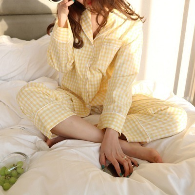 Women's Plaid Long Sleeved Pajamas