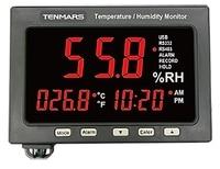 TENMARS TM 185 USB Интерфейс Температура влажность Регистратор данных с большой светодиодный Дисплей