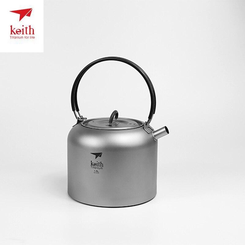 Кейт Титан 1.5L Бутылка Открытый Кемпинг чайник кофе чай горшок Кемпинг Toolswith термостойкие Handl легкий г 200 г Ti3907