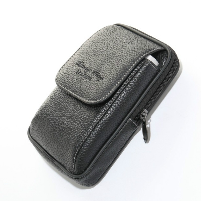 BISI GORO pu leather fanny pack phone coin card <font><b>waist</b></font> <font><b>bag</b></font> Multi-function outdoor fanny pack <font><b>men</b></font> and women belt <font><b>bags</b></font> <font><b>waist</b></font> pack image