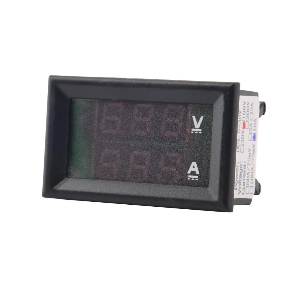 1 sztuk Najwyższej Jakości Woltomierz DC 100 V 10A Amperomierz - Przyrządy pomiarowe - Zdjęcie 3