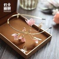 Lovely Bride Wedding Bridesmaid Headdress Flower Headband Hair Flower Children Daily Simple Korean Hairpin Head Hoop