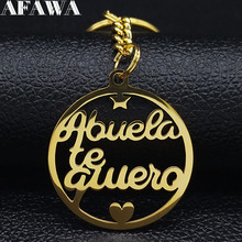 2019 Family Abuela te Puiero  Stainless Steel Bag Charm for Women Letter Gold Color Keyring Jewelry llaveros para mujer K77628B