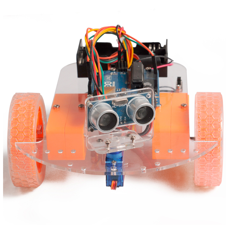 4WD ultrasonic module avoidance robot car chassis kit assembly free shipping(China)