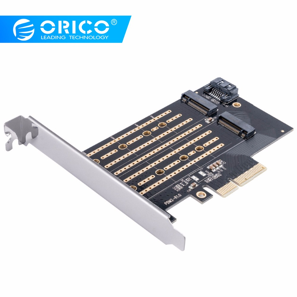 ORICO Super Speed PCI-E ExpressCard M.2 NVME To PCI-E 3.0 X4 Post Card M.2 M B-key Interface Support 2230 2242 2260 2280 4TB SSD