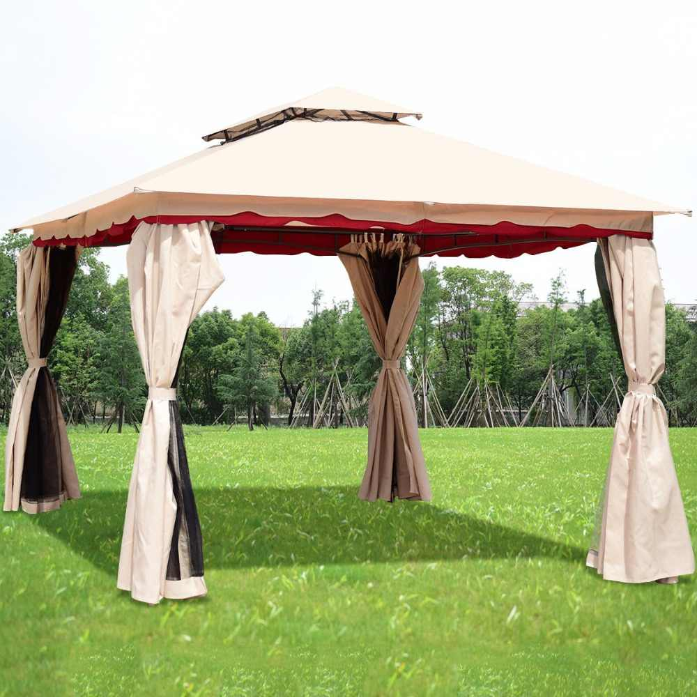 Giantex 13x10outdoor canopy gazebo art steel frame party patio canopy gazebo w