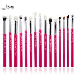 Jessup Rose-carmin/Argent Maquillage Pinceaux Pinceaux professionnel Make up Brosse Outils kit EyeLiner Shader naturel-synthétique cheveux