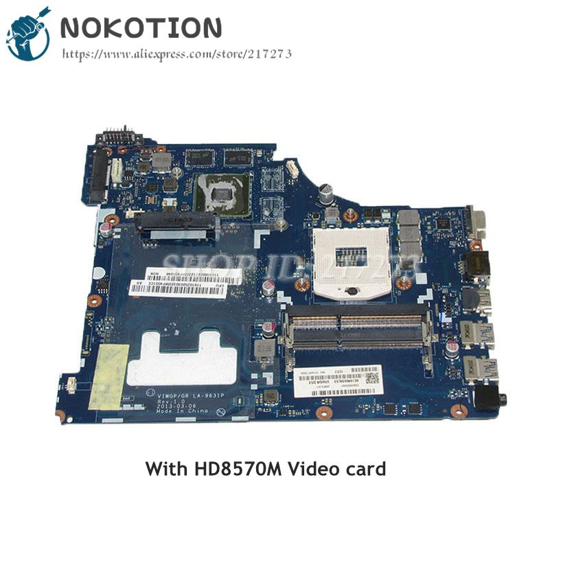 NOKOTION VIWGP GT LA-9631P MAIN BOARD For Lenovo G500 15.6 inch Laptop Motherboard HM76 DDR3 HD8570M Video card nokotion notebook pc motherboard for lenovo ideapad g500 main board system board viwgpgr la 9632p hm76 ddr3