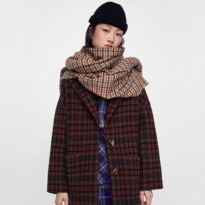 Image 2 - 2018 ใหม่แฟชั่นฤดูใบไม้ร่วงฤดูหนาวผ้าขนสัตว์ชนิดหนึ่งลายสก๊อต pashmina ผ้าพันคอ swallow gird ผู้หญิงหนาผ้าพันคอผ้าพันคอยี่ห้อ shawl wraps