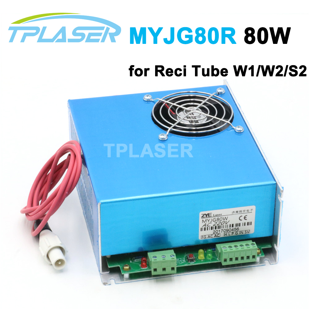 80W CO2 Laser Power Supply MYJG-80R for Reci Laser Tube S2 and CO2 Laser Engraving Cutting Machine ac220v reci laser co2 power supply 80w dy10 w2 v2 s2 laser tube laser engraving cutting machine