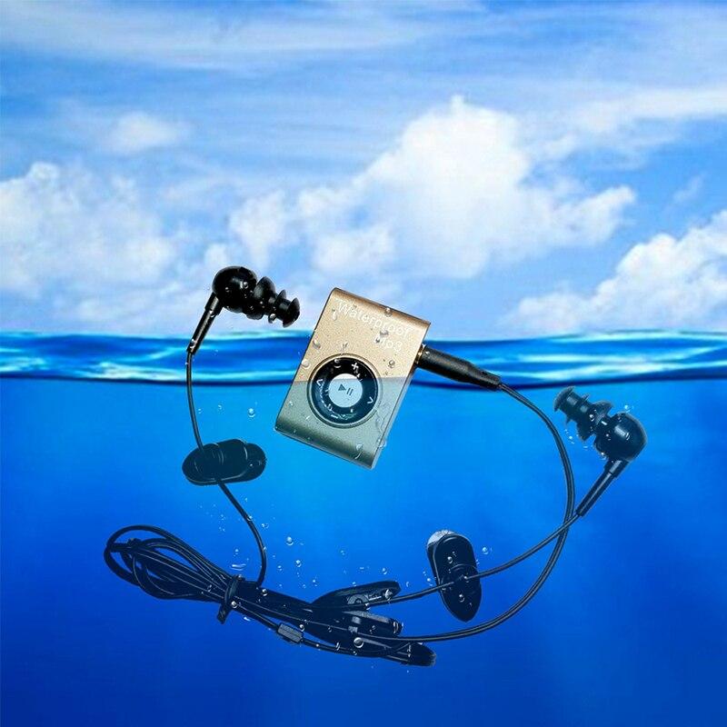 Mini Waterproof Swimming MP3 Player Sports Running Horse Riding MP3 Sereo Walkman Music MP3 Player With FM Radio Hi-Fi Clip
