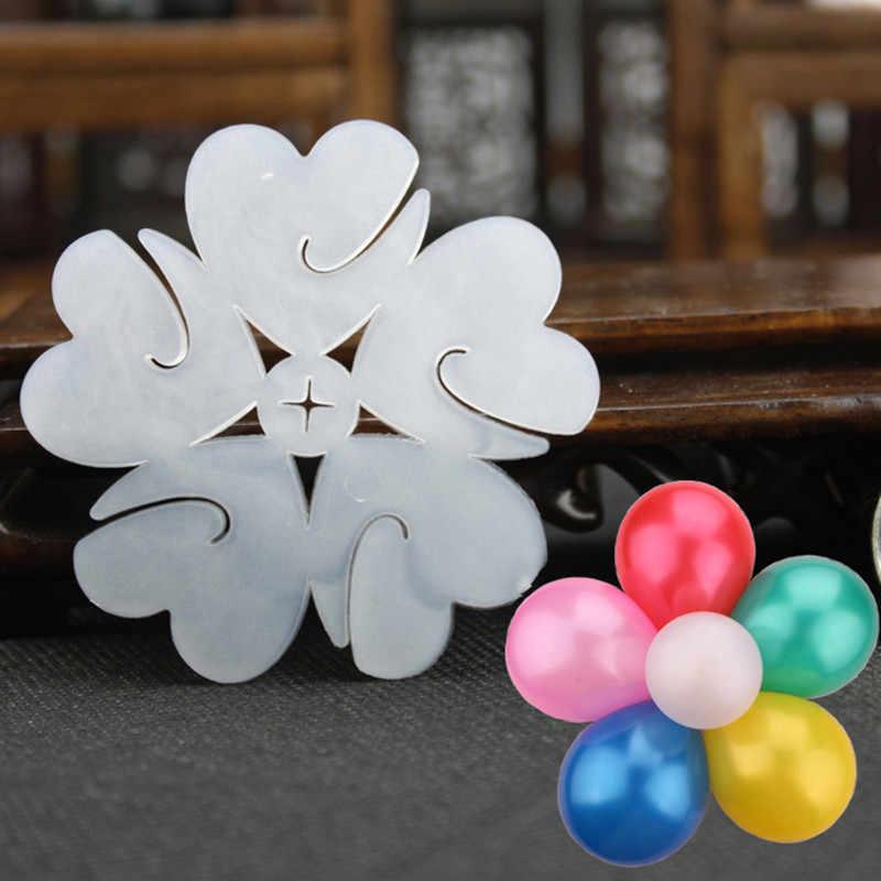 Temizle balon standı çocuk hediye oyuncak sütun tabanı plastik balonlar düğün dekor kar tanesi şekli sahne yeni yıl dekor