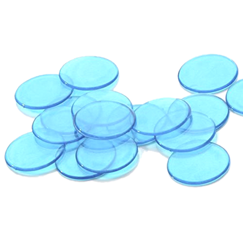 Hot Approx.100Pcs 3/4 Inch Plastic Bingo Chips, Translucent Design, for Classroom and Carnival Bingo Games Blue