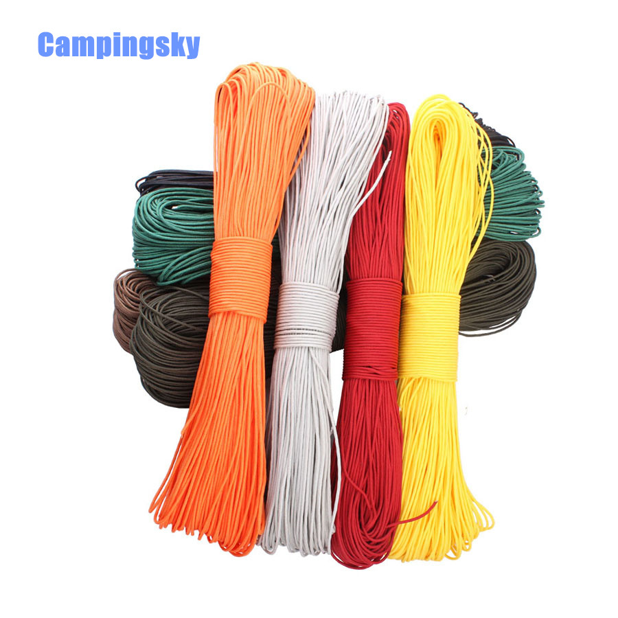 CAMPINGSKY 50 Meters Dia 2mm Paracord for Survival Parachute Cord Lanyard Camping Climbing Camping Rope Hiking