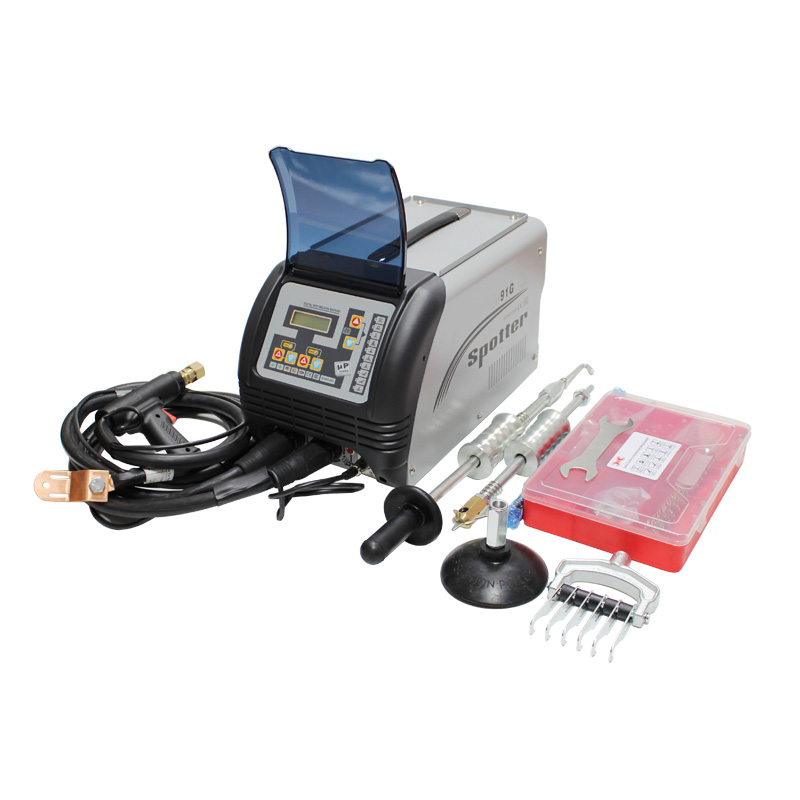 CE certified 1 year warranty car body repair spotter welding machine with dent puller kit and spot welding washers electrodes in Sheet Metal Tools Set from Automobiles Motorcycles