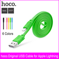 Hoco 5 v 1 m mini cabo usb otg para iphone 7 6 5 cabo relâmpago 6 cores usb cabo de carga para iphone 7 carregador