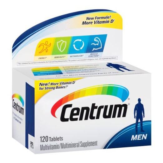 Free Shipping Centrum Ultra Men Multivitamin multimineral Supplement 120 pcs