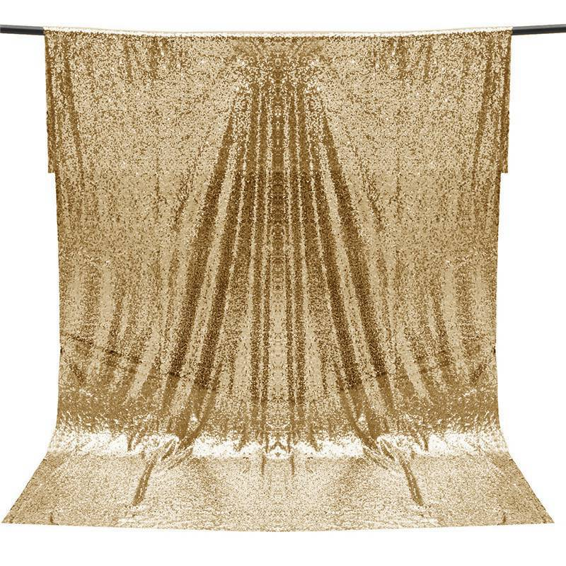 aeProduct.getSubject() - 4*6FT Gold Shimmer Sequin Fabric For Photography Backdrop Home
