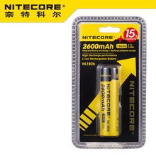 1pc best price nitecore NL1826 2600 mAh 18650 3.7 V rechargeable Li-ion battery (NL1826)