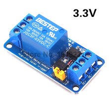 3.3V 1 Channel Relay Module High and Low Level Trigger Dual