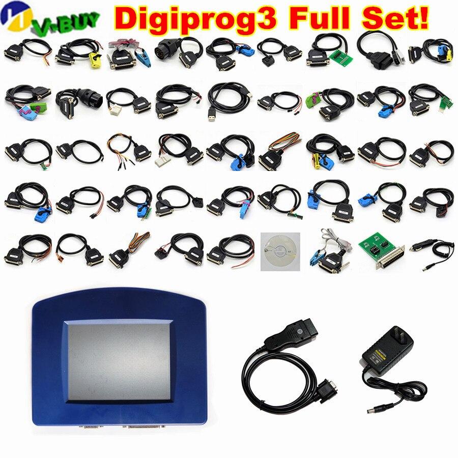 Meilleure qualité DIGIPROG III Digiprog 3 obd version V4.94 OBD2 ST01 ST04 câbles Digiprog3 outil de Correction d'odomètre DHL gratuit
