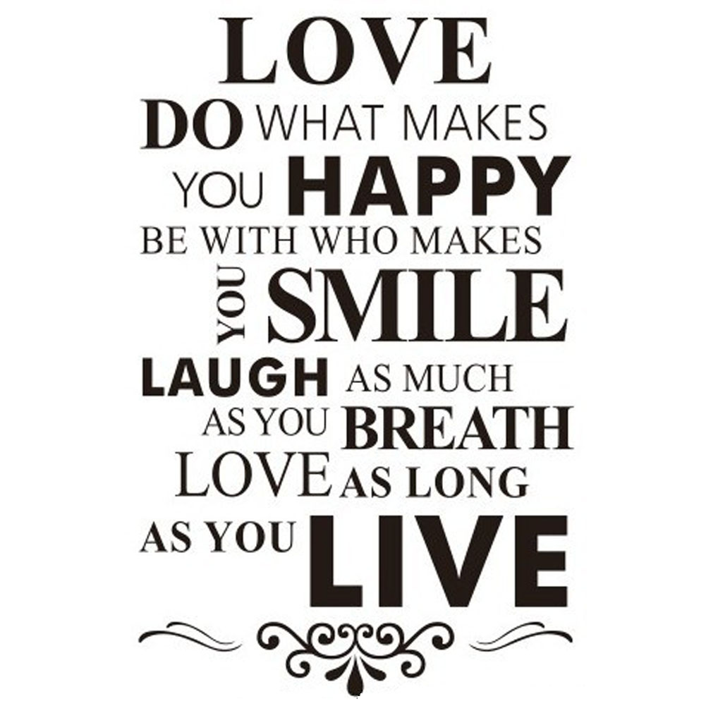 Smile Laugh Love Quotes Buy Love Black And White Words And Get Free Shipping On Aliexpress