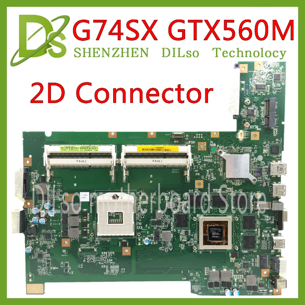 KEFU G74SX motherboard for ASUS G74SX GTX560M support 3D connector 8 Memory's laptop motherboard 100% test original in stock все цены
