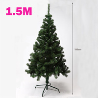 1 5 Meter Encryption Christmas Tree With Green Leaves Iron Tripod Christmas Decorations New Year Ornaments