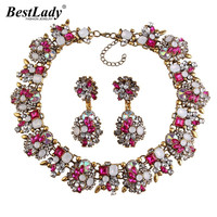 Ladyfirst 2016 Za Big Brand Gem Vintage Crystal Chunky Statement Necklace Maxi Collier Femme Luxury Maxi