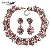 Ladyfirst 2016 Za Big Brand Gem Vintage Crystal Chunky Statement Necklace Maxi Collier Femme Luxury Maxi
