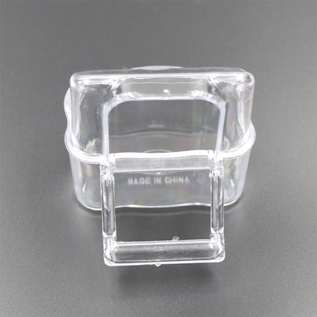 6 Pcs Cage Parrot Cage Special Transparent Water Splash Plugin Box Bird Water Feeder Bowl Plastic Birds Finches Pigeon Supplies 1