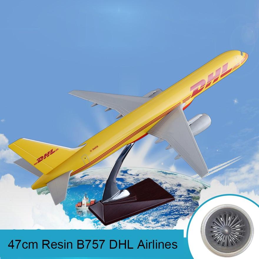 47 см Смола B757 DHL авиакомпания модель Boeing 757 самолет Airways Расширенный подарок статическая модель Airbus коллекция игрушек