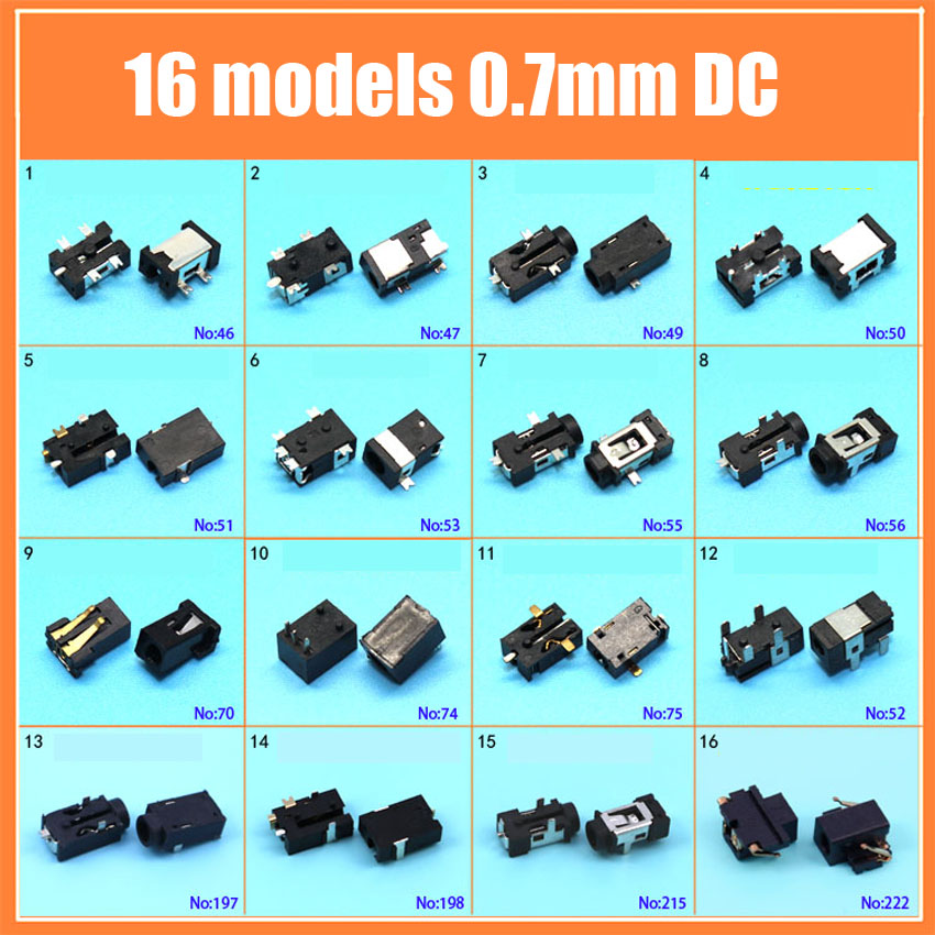 DC2.5*0.7 Tablet PC DC Jack Power Socket 2.5x0.7 Mm 16models Charging Power Connector