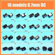 Dc2.5 * 0.7 اللوحي dc جاك السلطة المقبس 2.5x0.7mm 16 نماذج شحن موصل الطاقة