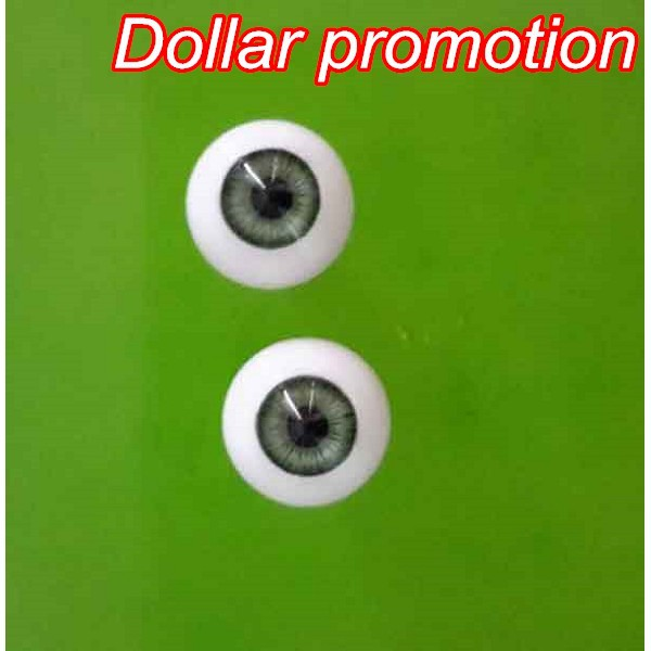 Top Selling 16pieces/lot (8pairs)mix Color Round Shape 14MM  MIX COLOR  Acrylic EYES   Reborn Doll Eyes Bjd Doll Eyes Customized